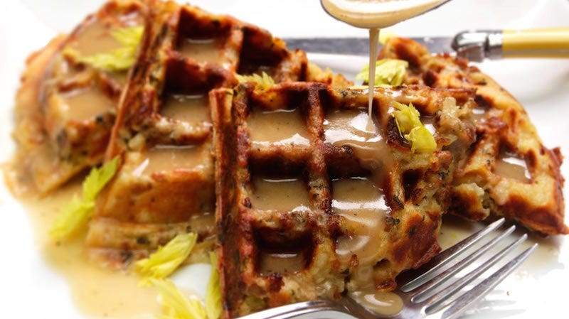 Illustration for article titled Mix Up a Thanksgiving Classic and Make Stuffing Waffles
