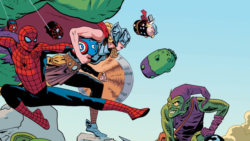 Illustration for article titled Marvel's Superheroes Are Teaming Up With Plush Toys for a Very Strange Comic