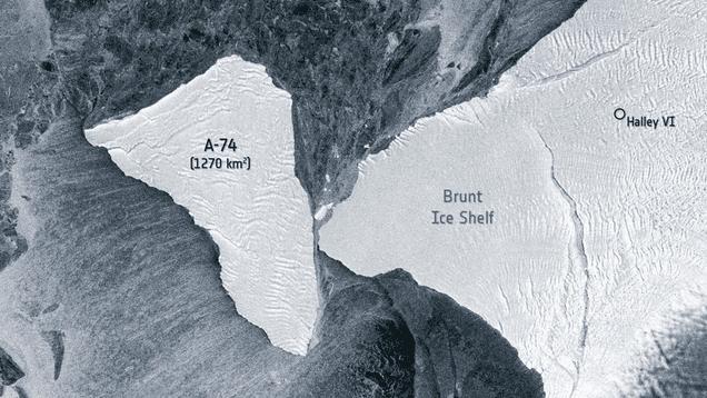 Gigantic Iceberg Nearly Smashes Into Antarctic Ice Shelf