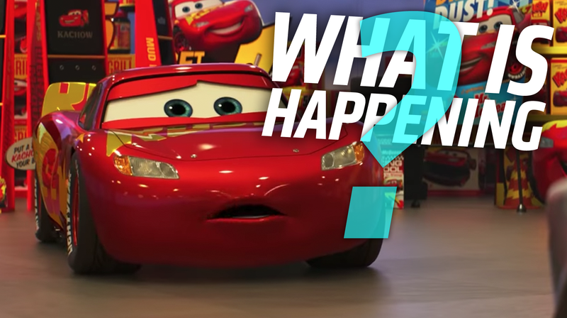 Illustration for article titled The New Cars 3 Trailer Raises Even More Unsettling Questions About Its Universe