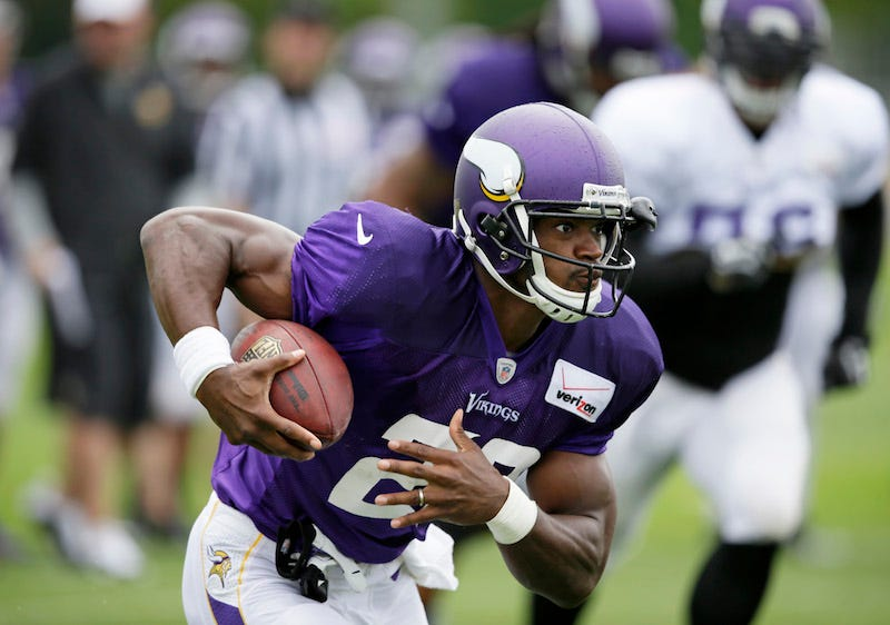 Illustration for article titled Report: Vikings Will Handle Adrian Peterson's Status On Monday