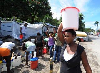 Haitians prepare for Hurricane Tomas.