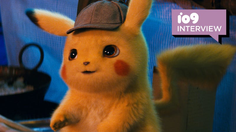 Pikachu, voiced by Ryan Reynolds.