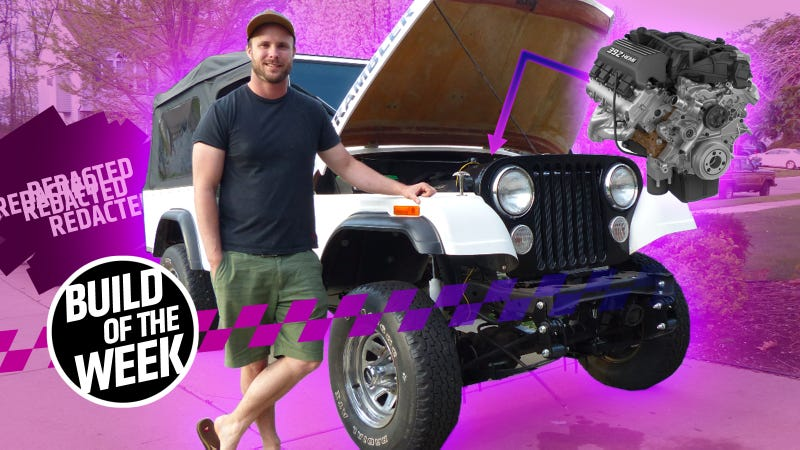 Illustration for article titled This Chrysler Engineer Is Shoving A 485 Horsepower Hemi V8 Into A Jeep Scrambler