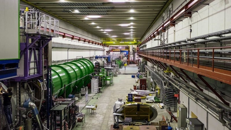 The NA62 experiment at CERN.