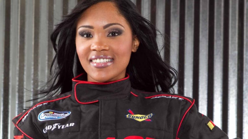 Illustration for article titled The Career Of NASCAR's First Black Female Driver Has Been More Fiction Than Fact