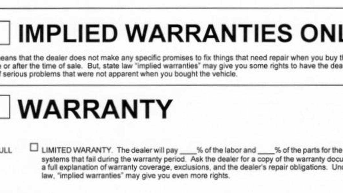Auto Bill Of Sale As Is No Warranty: Texas Lemon Law Private Seller