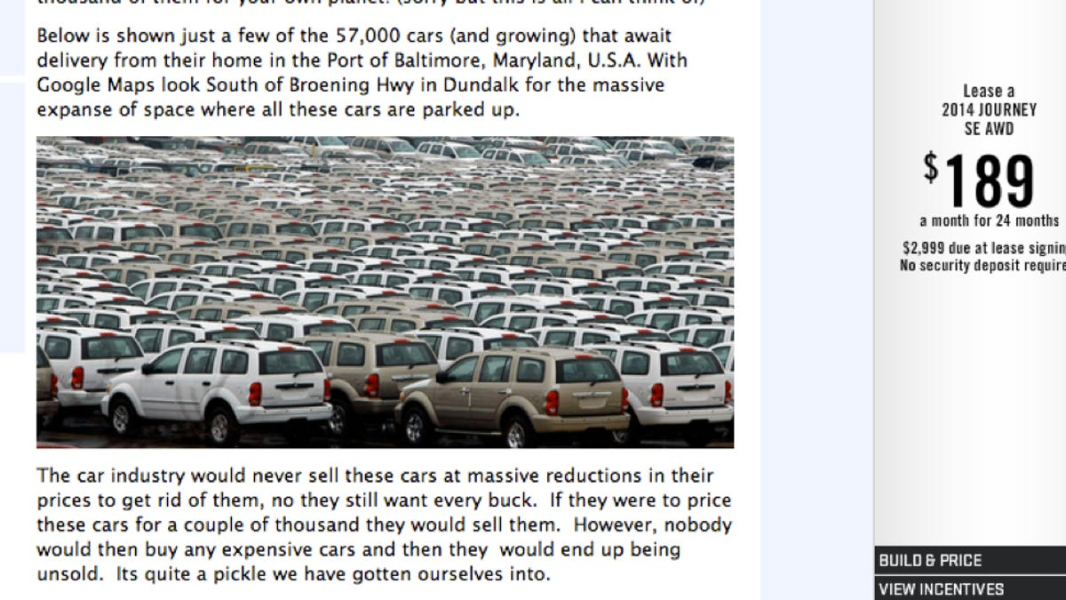 That Zero Hedge Article On Unsold Cars Is Bullshit