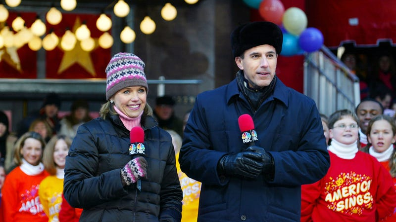 Katie Couric and Matt Lauer, 2002. Image via Getty.