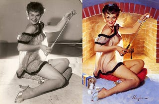 Illustration for article titled Even Classic Pin-Ups Were Retouched
