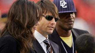 Tom Cruise, Katie Holmes and Jamie Foxx in 2006Win McNamee/Getty Images