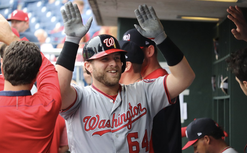 Illustration for article titled Nats Rookie Spits Out Tooth, Socks First Career Dinger [Update]
