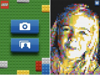 Illustration for article titled Official iPhone Lego App Converts Reality Into a Brick Mosaic