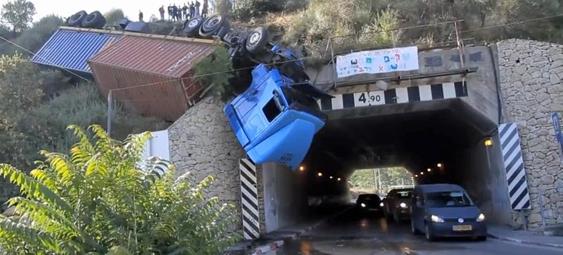 Illustration for article titled This Is What Happens When You Roll Your Truck Down A Mountain