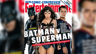 Illustration for article titled Batman, Superman, and Some Woman Are On The Cover Of This Week's EW