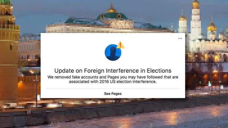 Facebook Users Cry 'Censorship' After Being Told Which Russian Troll Pages They Liked