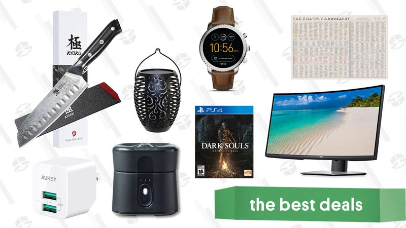 Illustration for article titled Thursday's Best Deals: Kyoku Daimyo Knives, Fossil Semi-Annual Sale, Vizio Sound Bar, and More