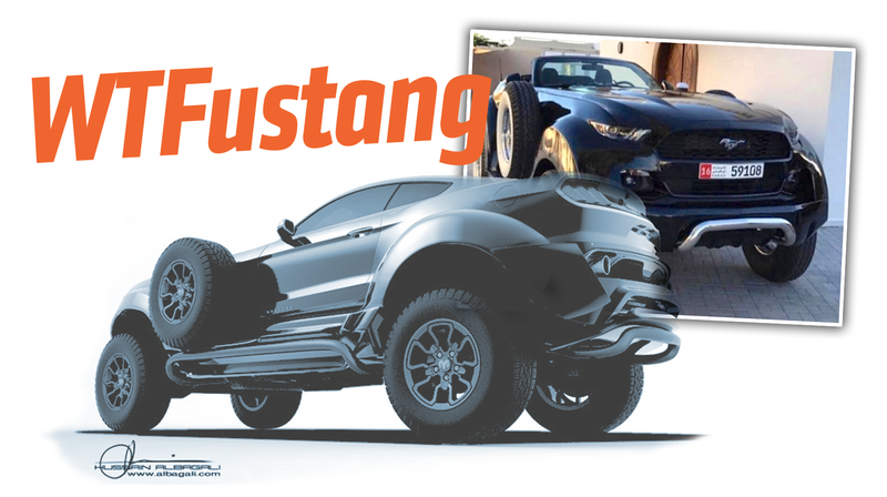 Illustration for article titled This Unholy Mutated 4x4 Mustang Is The Best Worst Thing You've Seen Since Breakfast