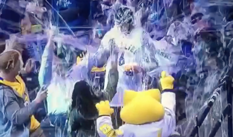 Illustration for article titled Grizzlies Fan Becomes Victim Of Apocalyptic Silly String Ambush