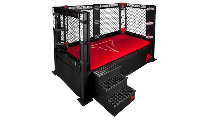 Illustration for article titled MMA Cage Bed: Wrestle Your Spouse For Sheet Supremacy