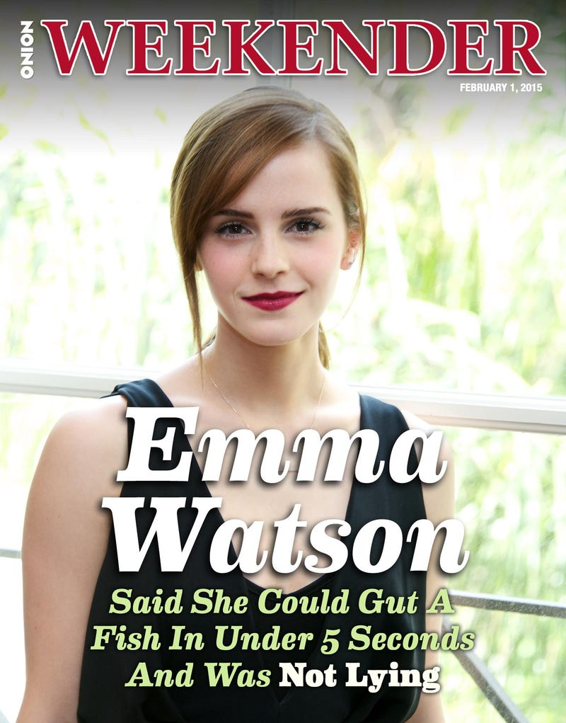 Illustration for article titled Emma Watson Said She Could Gut A Fish In Under 5 Seconds And Was Not Lying