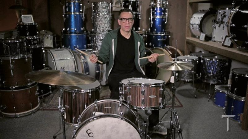 Illustration for article titled Portlandia's Fred Armisen shows how to fake your way to drumming greatness