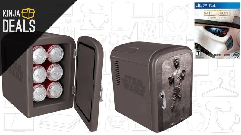 Illustration for article titled Battlefront and Chill? Save $30 on This Incredible Han Solo Fridge Bundle.