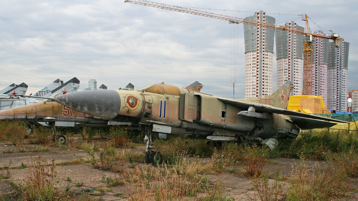 Odessa Ukraine June 26 2016 Old Broken Military Aircraft Jet Fighters Ers And Helicopters Are On The Airplane Graveyard Obsolete