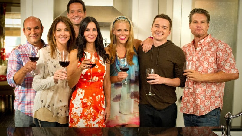Illustration for article titled Pour out a glass of wine for Cougar Town's finale. Nah, just drink that wine.