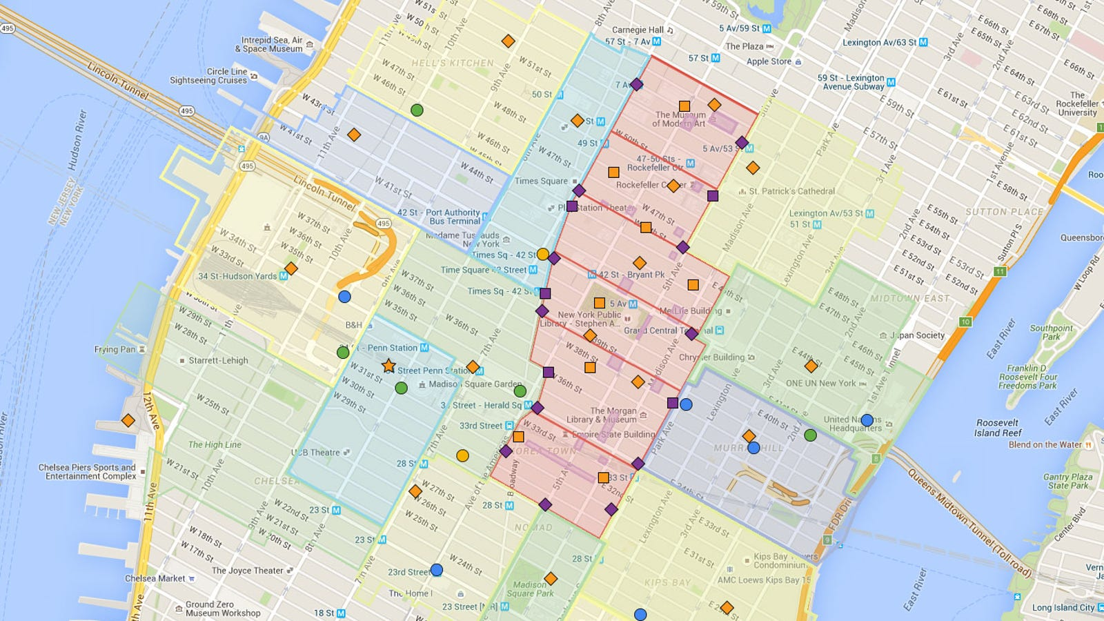 Map Of New York Sites.The Division S Nyc Vs Google Maps Nyc