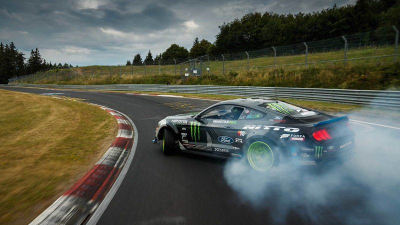 Illustration for article titled A 900-HP Ford Mustang Drifting the Nordschleife Is the Only Nürburgring Lap I Give a Shit About