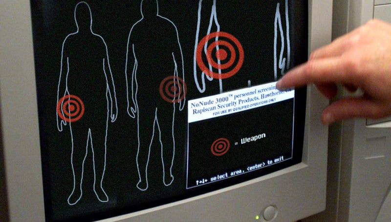 Illustration for article titled The TSA's New Body Scanners Spot Bombs, Not Dongs