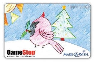 Illustration for article titled Make-A-Wish Kid Designs GameStop's Holiday Gift Card