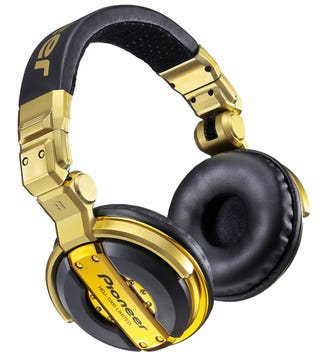 Illustration for article titled Limited Edition HDJ-1000 Headphones Get Fine-Tuned and Painted Gold by Pioneer