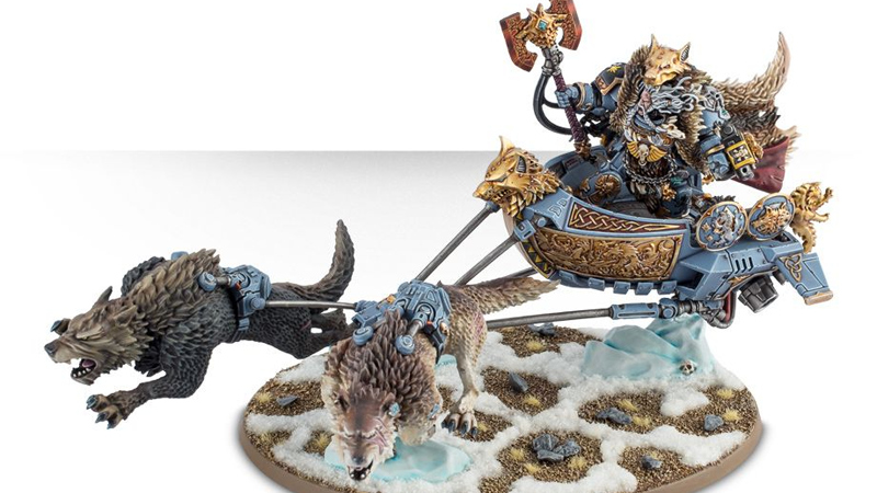 Logan Grimnar, Warrior King of the Space Wolves. Nobody show this model to PETA. Image Credit: Games Workshop
