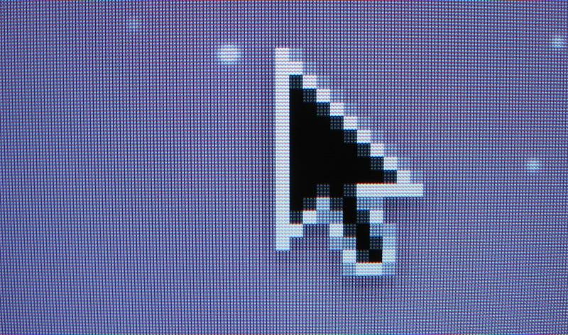 Por qué el cursor de los ratones está ligeramente inclinado (en lugar de apuntar hacia arriba)