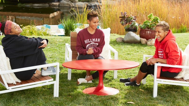 (L-R): Willow Smith, Jada Pinkett Smith and Adrieene Banfield-Jones, Episode 121 of Red Table Talk