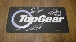 Illustration for article titled Win An Autographed Top Gear USA License Plate Before Tomorrow's Premiere