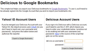 Illustration for article titled How to Import Your Delicious Bookmarks into Google Bookmarks in One Easy Step