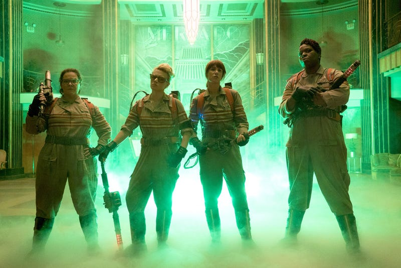 Illustration for article titled The New Ghostbusters Answer the Call in Their First Official Pic