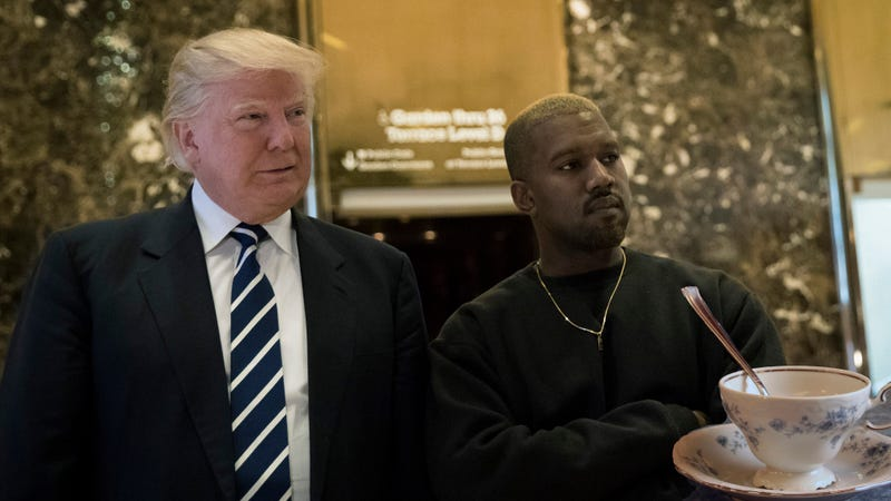 President Donald Trump and Kanye West