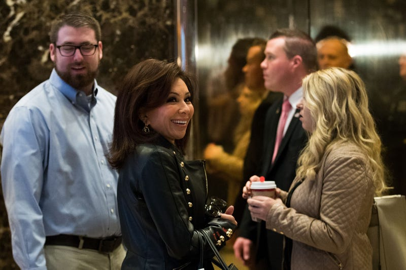Television legal analyst Jeanine Pirro arrives at Trump Tower November 17, 2016 in New York City.