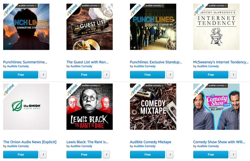 Listen to Comedy Albums For Free Courtesy of Amazon Prime Music