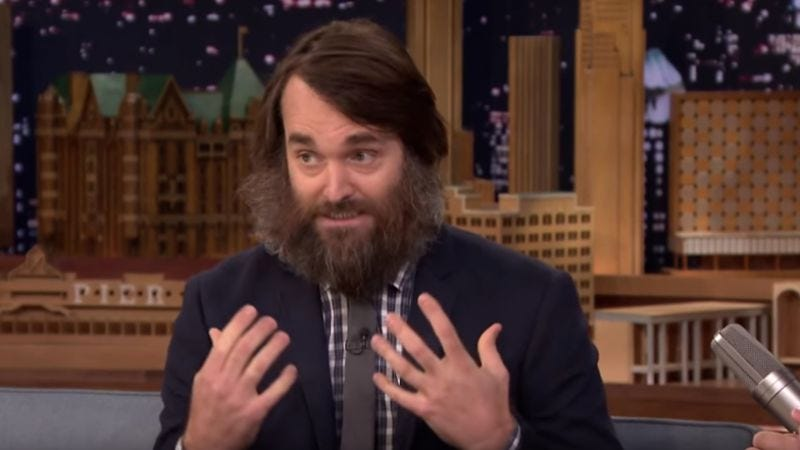 Illustration for article titled Watch Jimmy Fallon help Will Forte test his beard for fecal matter