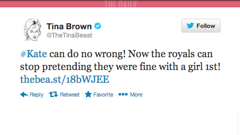 Illustration for article titled Royals Can Stop Pretending They Were Fine with a Girl, Says Tina Brown