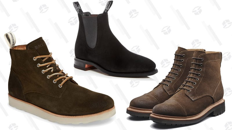Blackstone OM 53 Plain Toe Boots | R.M. Williams Suede Chelsea Boots | Grenson Burnished Suede Joseph Boots