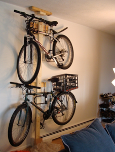 Diy bicycle rack Backyard Lifehacker Diy Bike Rack Revisited