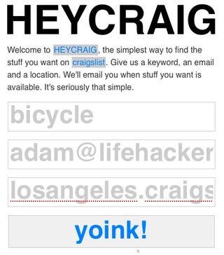 Illustration for article titled HeyCraig Sets Up Email Alerts for Craigslist Searches