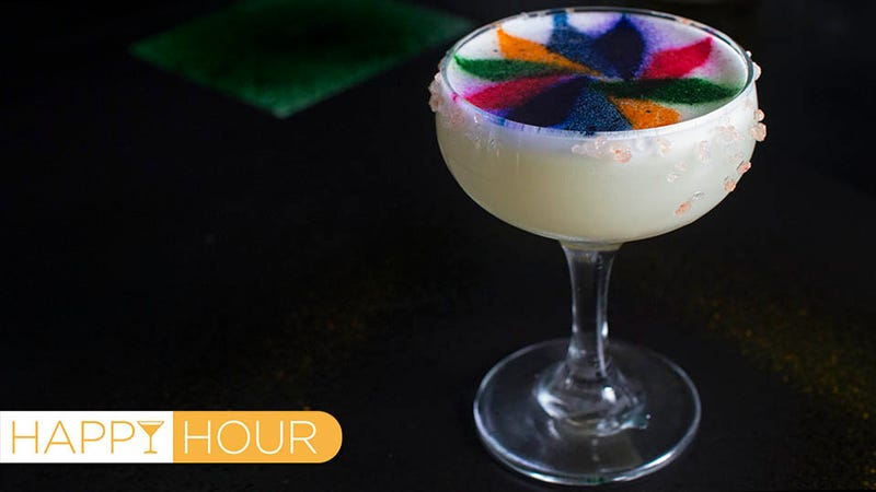 Illustration for article titled Technicolor Margaritas: Now Rainbow Food Can Get You Drunk Too