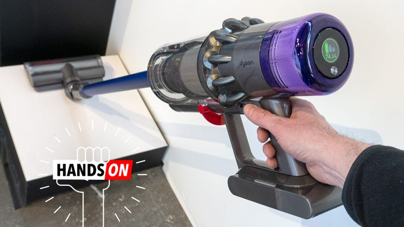 Illustration for article titled The Most Exciting Update to Dyson's New Cordless Vac Is... a Battery Meter?